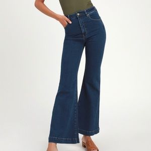 NEW rollas brand east coast flare jeans